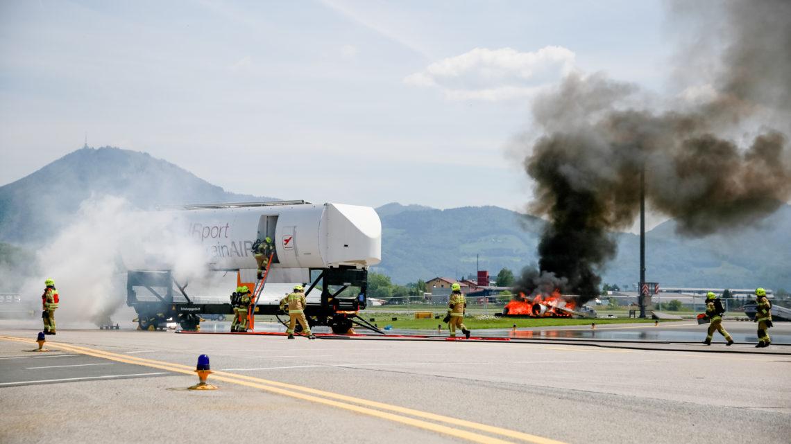 Notfallübung am Salzburg Airport