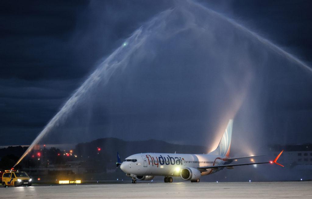 Erstlandung Fly Dubai am Salzburg Airport